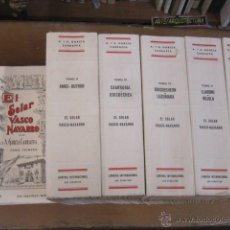 Libros de segunda mano: EL SOLAR VASCO NAVARRO - A.A. GARCIA CARRAFFA - SAN SEBASTIAN 1966/67 - 6 TOMOS, OBRA COMPLETA +INFO. Lote 43819336