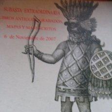 Libros de segunda mano: SOLER Y LLACH – SUBASTA DE LIBROS ANTIGUOS, MAPAS, GRABADOS Y MANUSCRITOS – NOVIEMBRE 2007. Lote 43831794