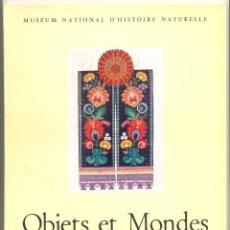 Libros de segunda mano: OBJETS ET MONDES, TOME II, FASC. 3, AUTOMNE 1962. LA REVUE DU MUSÉE DE L'HOMME (ANTROPOLOGÍA). Lote 43884361