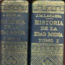 Libros de segunda mano: HISTORIA DE LA EDAD MEDIA --2 TOMOS COMPLETO. Lote 43961531