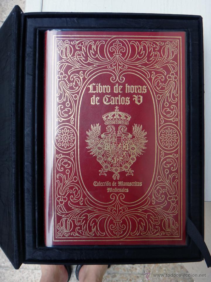 Libros de segunda mano: LIBRO FACSIMIL HORAS DE CARLOS V PIEL CON DORADOS Y ESTUCHE EN TELA, COL MANUSCRITOS MEDIEVALES - Foto 2 - 43964371