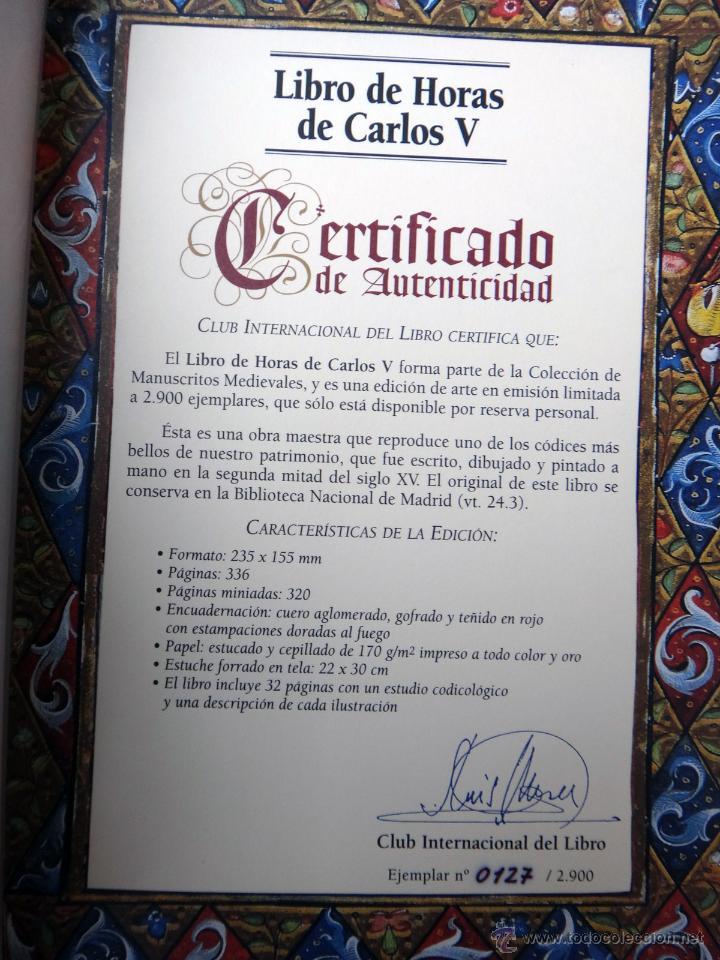 Libros de segunda mano: LIBRO FACSIMIL HORAS DE CARLOS V PIEL CON DORADOS Y ESTUCHE EN TELA, COL MANUSCRITOS MEDIEVALES - Foto 4 - 43964371