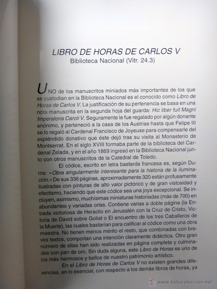 Libros de segunda mano: LIBRO FACSIMIL HORAS DE CARLOS V PIEL CON DORADOS Y ESTUCHE EN TELA, COL MANUSCRITOS MEDIEVALES - Foto 5 - 43964371