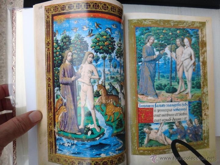 Libros de segunda mano: LIBRO FACSIMIL HORAS DE CARLOS V PIEL CON DORADOS Y ESTUCHE EN TELA, COL MANUSCRITOS MEDIEVALES - Foto 6 - 43964371