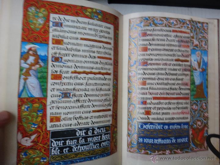 Libros de segunda mano: LIBRO FACSIMIL HORAS DE CARLOS V PIEL CON DORADOS Y ESTUCHE EN TELA, COL MANUSCRITOS MEDIEVALES - Foto 8 - 43964371