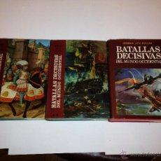 Libros de segunda mano: J.F.C. FULLER - BATALLAS DECISIVAS DEL MUNDO OCCIDENTAL - CARALT - 3 TOMOS. Lote 43965645