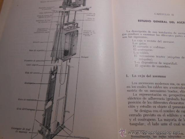 Libros de segunda mano: ASCENSORES Y MONTACARGAS. G. TEXIER. MARCOMBO 1959 - Foto 4 - 224102256