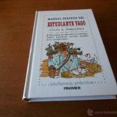 Libros de segunda mano: MANUAL PRÁCTICO DEL ESTUDIANTE VAGO (PESQUERA, J.G.) TÉCNICAS DE ESTUDIO, SABER APROBAR...). Lote 44010384