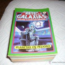 Libros de segunda mano: EL RETO DE LAS GALAXIAS EDICIONES SUSAETA 1986 LIBRO JUEGO COLECCION COMPLETA B.E. 10 LIBROS. Lote 44020456