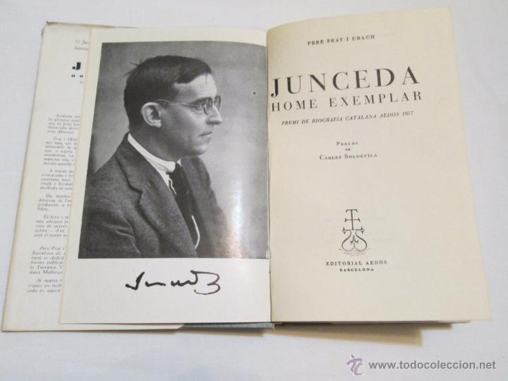 Libros de segunda mano: JUNCEDA HOME EXEMPLAR - PERE PRAT I UBACH - 1957 - Foto 3 - 44021866