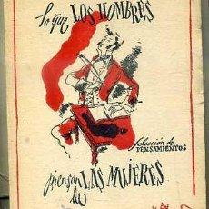 Libros de segunda mano: LO QUE LOS HOMBRES PIENSAN DE LAS MUJERES (TARTESSOS, C. 1945) MINIATURA 7,5X9,5. Lote 44056185