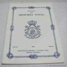 Libros de segunda mano: REVISTA DE HISTORIA NAVAL. 1998. Nº 63. INSTITUTO DE HISTORIA Y CULTURA NAVAL .. Lote 44095335