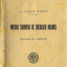 Libros de segunda mano: CONAN DOYLE : NUEVOS TRIUNFOS DE SHERLOCK HOLMES (SOPENA). Lote 44106001