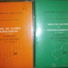 Livres d'occasion: MINISTERIO DE AGRICULTURA-SOBRADO DE LOS MONJES-MAPA CLASES AGROLOGICAS Y CULTIVOS Y APROVECHAMIENTO. Lote 44112895