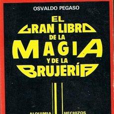 Libros de segunda mano: EL GRAN LIBRO DE LA MAGIA Y LA BRUJERÍA OSVALDO PEGASO . Lote 44135757