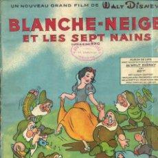 Libros de segunda mano: WALT DISNEY . BLANCHE-NEIGE ET LES SEPT NAINS (SALABERT, 1938) LIBRO FRANCES DE PARTITURAS MUSICALES. Lote 44210242