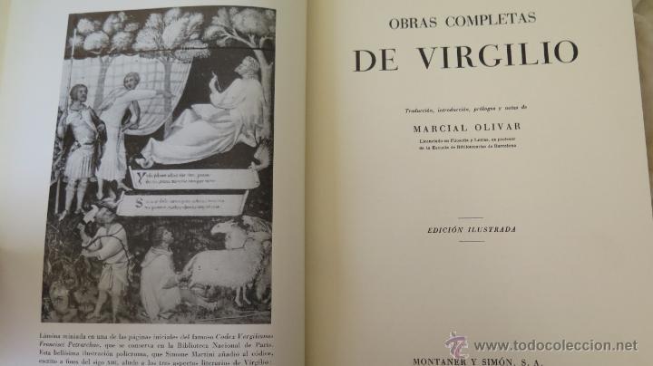 Libros de segunda mano: VIRGILIO. OBRAS COMPLETAS. MONTANER Y SIMON - Foto 2 - 44356511