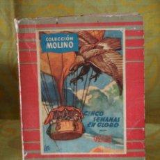 Libros de segunda mano: JULIO VERNE- CINCO SEMANAS EN GLOBO. Lote 44390519