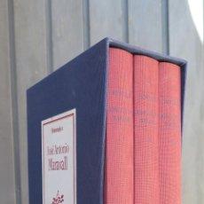 Libros de segunda mano - HOMENAJE A JOSE ANTONIO MARAVALL. OBRAS COMPLETAS. 3 TOMOS - 44608065
