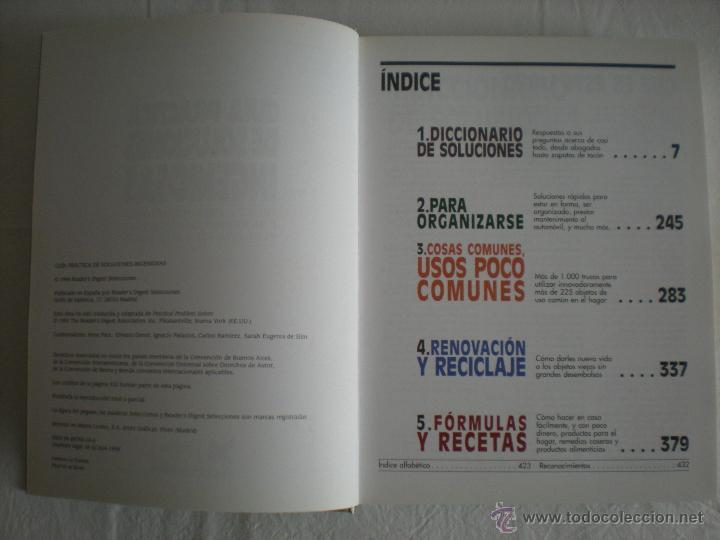 Libros de segunda mano: Libro # Guia Practica de Soluciones Ingeniosas (Readers Digest) - Foto 3 - 44657050