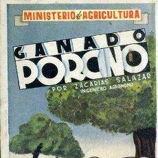 Libros de segunda mano: SALAZAR : GANADO PORCINO (MINISTERIO AGRICULTURA, 1942). Lote 44701719