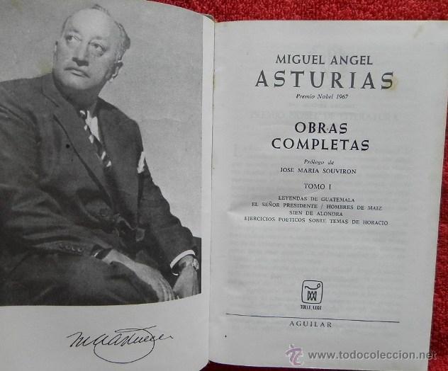 Libros de segunda mano: OBRAS COMPLETAS. TOMO I - MIGUEL ÁNGEL ASTURIAS - Foto 2 - 44714402