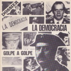 Libros de segunda mano: DOSSIER ESPECIAL Nº 1 DIARIO DE BARCELONA LA DEMOCRACIA GOLPE A GOLPE 23 - F. Lote 262414395