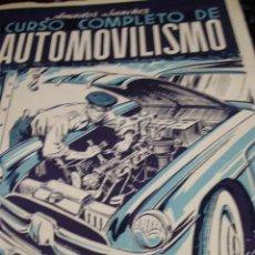 Libros de segunda mano: CURSO COMPLETO DE AUTOMOVILISMO. TOMO I: MOTORES (MADRID, 1953). Lote 44818192
