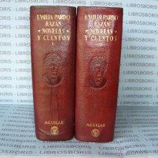 Libros de segunda mano: EMILIA PARDO BAZAN - NOVELAS - CUENTOS - 2TOMOS - AGUILAR.. Lote 45051343