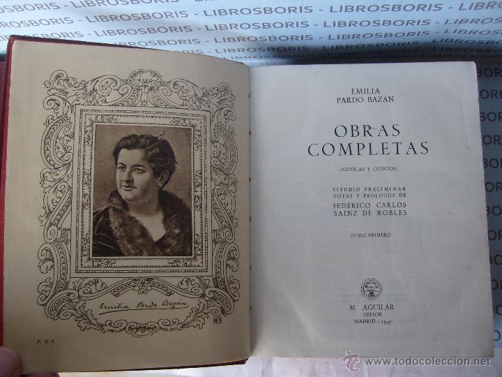 Libros de segunda mano: EMILIA PARDO BAZAN - NOVELAS - CUENTOS - 2TOMOS - AGUILAR. - Foto 5 - 45051343