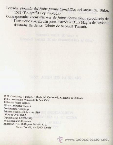 Libros de segunda mano: EL BISBE JAUME CONCHILLOS, LHUMANISME A CATALUNYA, A CURA DE XIMO COMPANY (1993) - Foto 4 - 45076675