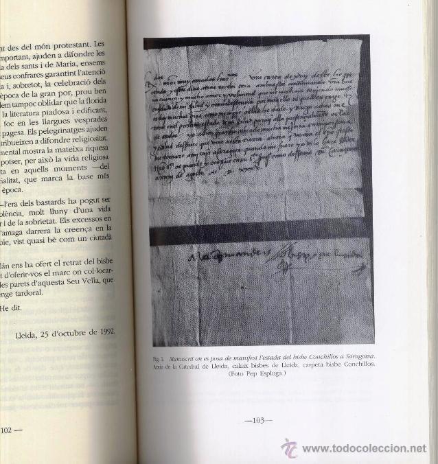 Libros de segunda mano: EL BISBE JAUME CONCHILLOS, LHUMANISME A CATALUNYA, A CURA DE XIMO COMPANY (1993) - Foto 5 - 45076675
