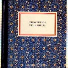 Libros de segunda mano: PROVERBIOS DE LA BIBLIA. N.º 004 CHICO AGM-004. Lote 187416945