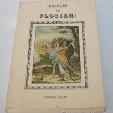 Libros de segunda mano: FABULAS DE FLORIAN - ESPASA CALPE 1990 54 FABULAS CON 54 GRABADOS. Lote 45228847