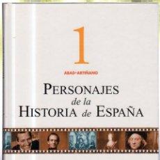 Libros de segunda mano: PERSONAJES DE LA HISTORIA DE ESPAÑA. ESPASA. 1999. COLECCION DE 14 VOLUMENES. Lote 52799319