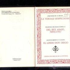 Libros de segunda mano: VARIAS OBRAS. ALARCON, ZORRILLA Y CAVANA. EDICION FERNI 1973. CIRCULO DE AMIGOS DE LA HISTORIA. LEER. Lote 45256092