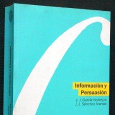 Libros de segunda mano: INFORMACION Y PERSUASION. ACTAS DE LAS III JORNADAS INTERNACIONALES DE CIENCIAS DE LA INFORMACIÓN. Lote 45268127