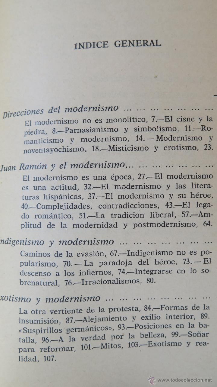 Libros de segunda mano: DIRECCIONES DEL MODERNISMO. RICARDO GULLON - Foto 2 - 45326906