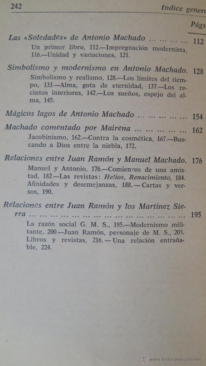 Libros de segunda mano: DIRECCIONES DEL MODERNISMO. RICARDO GULLON - Foto 3 - 45326906