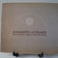 Libros de segunda mano: MONUMENTOS ASTURIANOS RESTAURADOS POR LA CAJA DE AHORROS DE ASTURIAS. OVIEDO 1978.. Lote 45330740