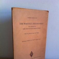 Libros de segunda mano: MARÍA RENNER DER WARTEGG-ZEICHENTEST. AÑO 1953.FOLLETO CON ILUSTRACIONES Y ESCRITO CON RECOMENDACIÓN. Lote 45370108