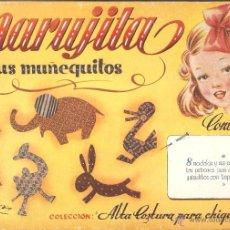 Libros de segunda mano: MARUJITA Y SUS MUÑEQUITOS. COLECCIÓN ALTA COSTURA PARA CHIQUITINAS. SABATÉS - EDT. MOLINO.. Lote 45399125