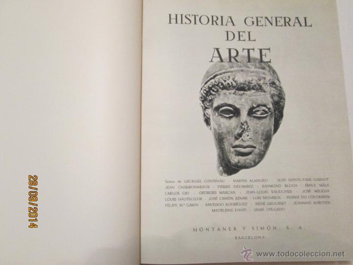 Libros de segunda mano: HISTORIA GENERAL DEL ARTE - VARIOS AUTORES - 1958 (2 VOL.) - Foto 3 - 45455236