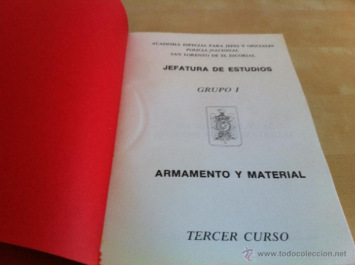 Libros de segunda mano: ARMAMENTO Y MATERIAL.TERRORISMO. 2 TOMOS. ACADEMIA ESPECIAL PARA JEFES Y OFICIALES. - Foto 5 - 44805349