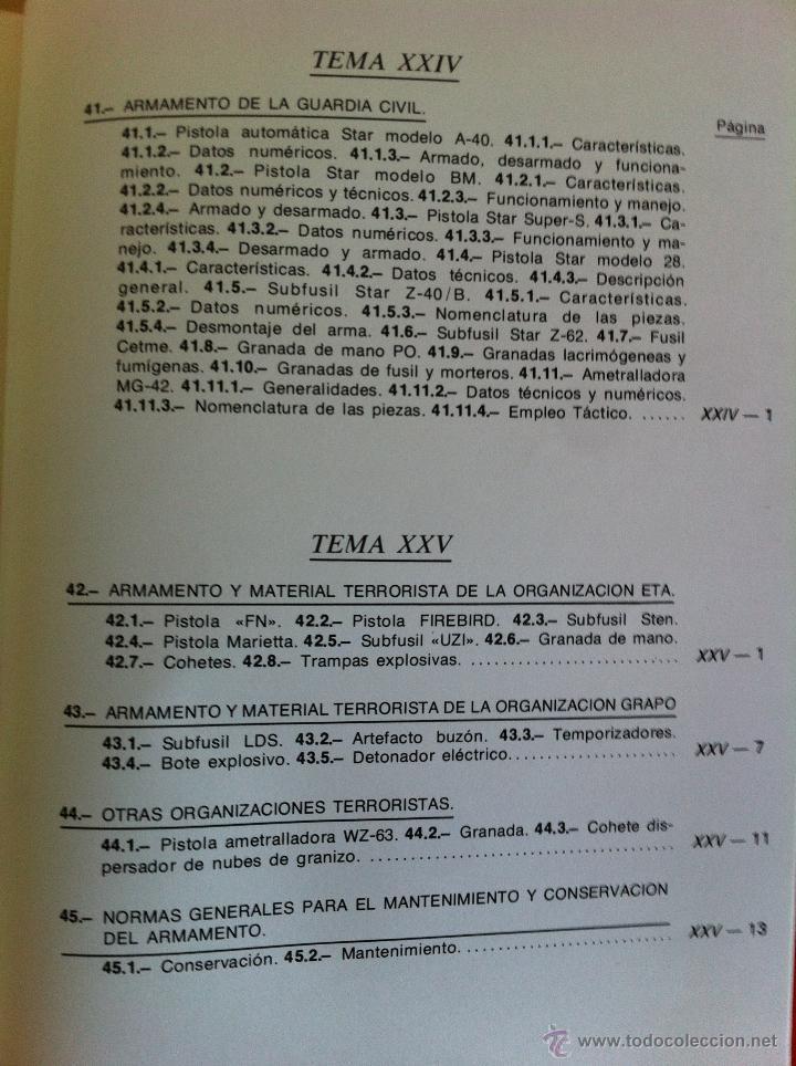 Libros de segunda mano: ARMAMENTO Y MATERIAL.TERRORISMO. 2 TOMOS. ACADEMIA ESPECIAL PARA JEFES Y OFICIALES. - Foto 21 - 44805349