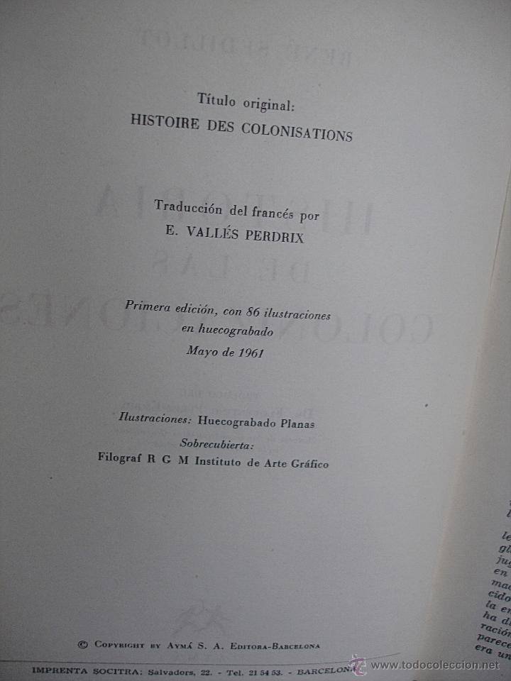 Libros de segunda mano: Historia de la colonizaciones, René Sédillot - Foto 4 - 45661466