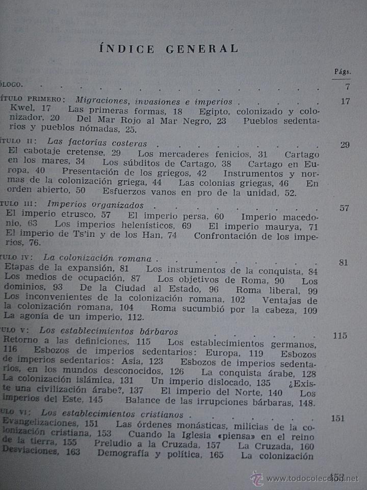 Libros de segunda mano: Historia de la colonizaciones, René Sédillot - Foto 14 - 45661466