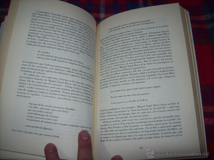 Libros de segunda mano: EL QUE VOLIA DIR-VOS.ANTOLOGIA.JOSEP M.LLOMPART. 1993.LLIBRE MOLT CERCAT.UNA JOIA!!!. VEURE FOTOS. - Foto 12 - 45762001