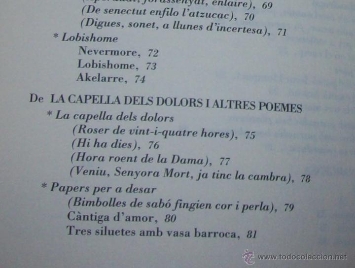 Libros de segunda mano: EL QUE VOLIA DIR-VOS.ANTOLOGIA.JOSEP M.LLOMPART. 1993.LLIBRE MOLT CERCAT.UNA JOIA!!!. VEURE FOTOS. - Foto 23 - 45762001
