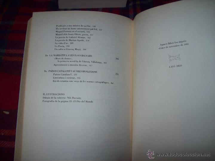 Libros de segunda mano: EL QUE VOLIA DIR-VOS.ANTOLOGIA.JOSEP M.LLOMPART. 1993.LLIBRE MOLT CERCAT.UNA JOIA!!!. VEURE FOTOS. - Foto 27 - 45762001